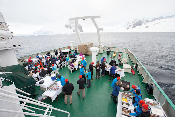 Don't worry, you don't eat outside every night, but you simply cannot go to Antarctica and not have a BBQ...