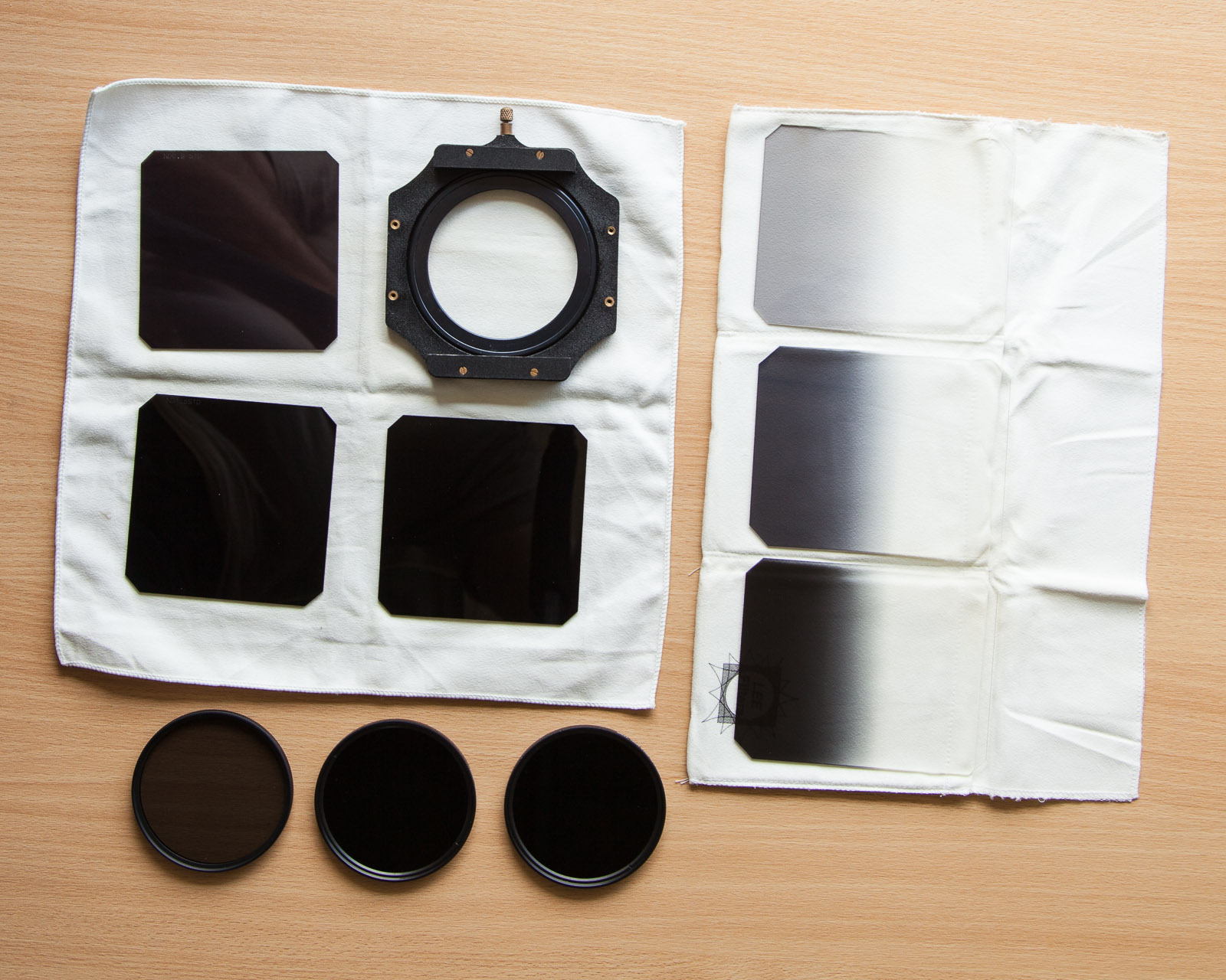 Little bits of plastic - here the ND and the ND Grad filters -  can make a world of difference to the 'look' of the photograph.