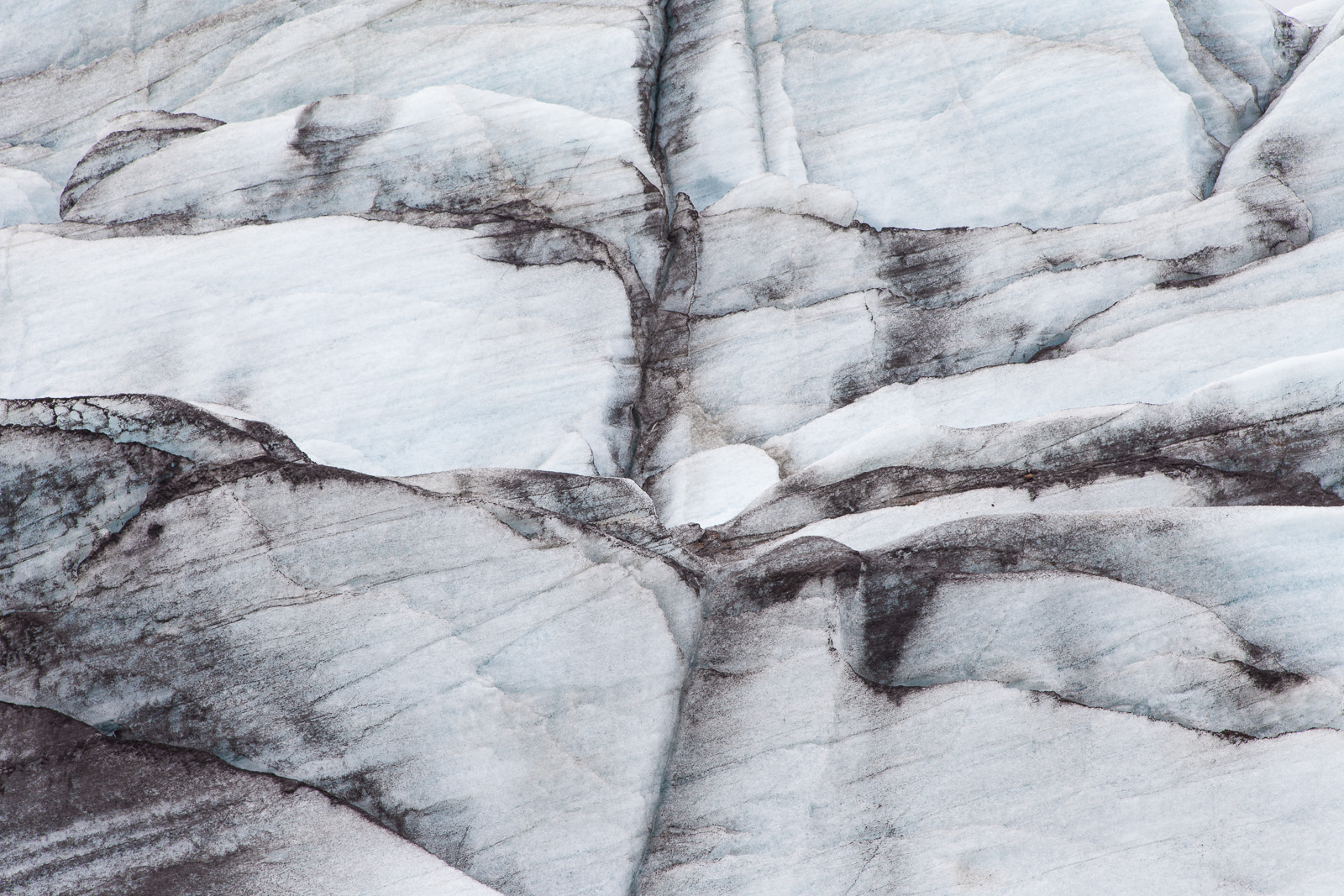 300 year old art: Icelandic glaciers mix pure ice and volcanic ash to create some truly stunning abstract art. It is possible that the catalyst of the French Revolution is in this very photograph…