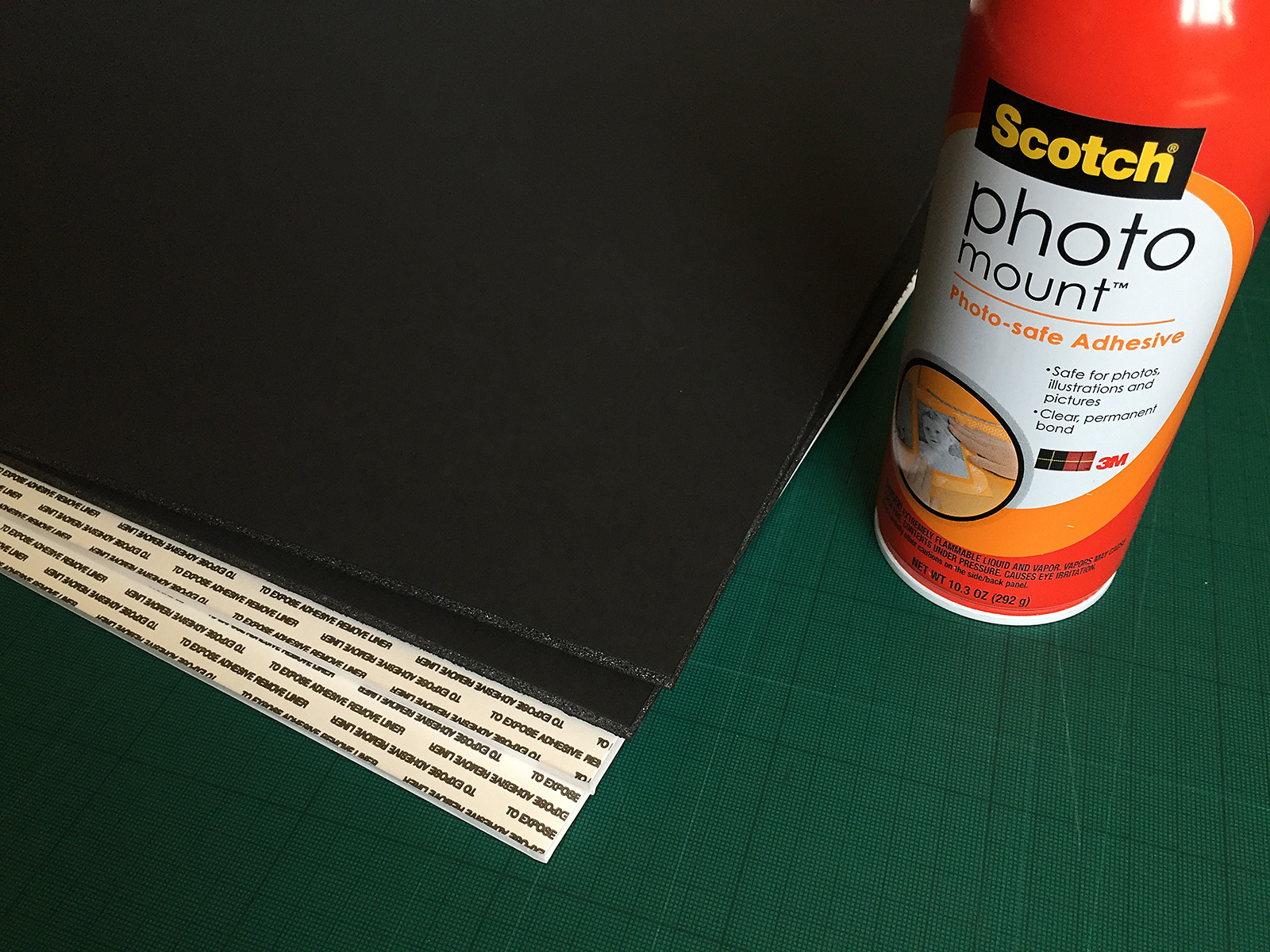 About all you need to get your image ready for display is the foam board and some glue - both easily found in a craft supply store.
