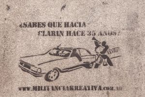'Do you know what happened with Clarin 35 years ago?' [Buenos Aires, Argentina]