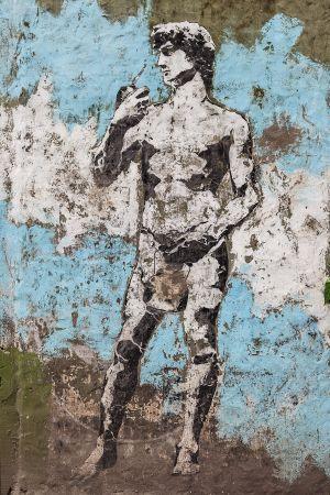 'David' by Stencil Land. [Buenos Aires, Argentina]