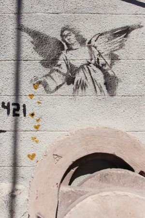 Unknown by Banksy. [Bethlehem, Palestine]