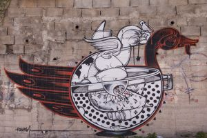 'While Drinking Tea' by How %26 Nosm. (Bethlehem, Palestine]