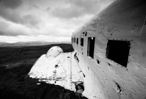 Wreckage of Douglas Super DC-3, Iceland.