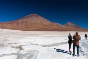 Volcán Juriques and Volcán Licancabur, Bolivia.