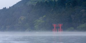 Lake Ashi, Hakone National Park, Japan.