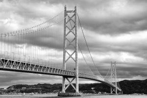 Akashi-Kaikyo Bridge, Kobe.